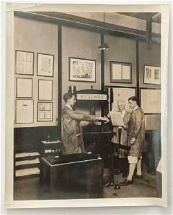 ca. 1922 CARNEGIE TECH PITTSBURGH, PA PRINT SHOP