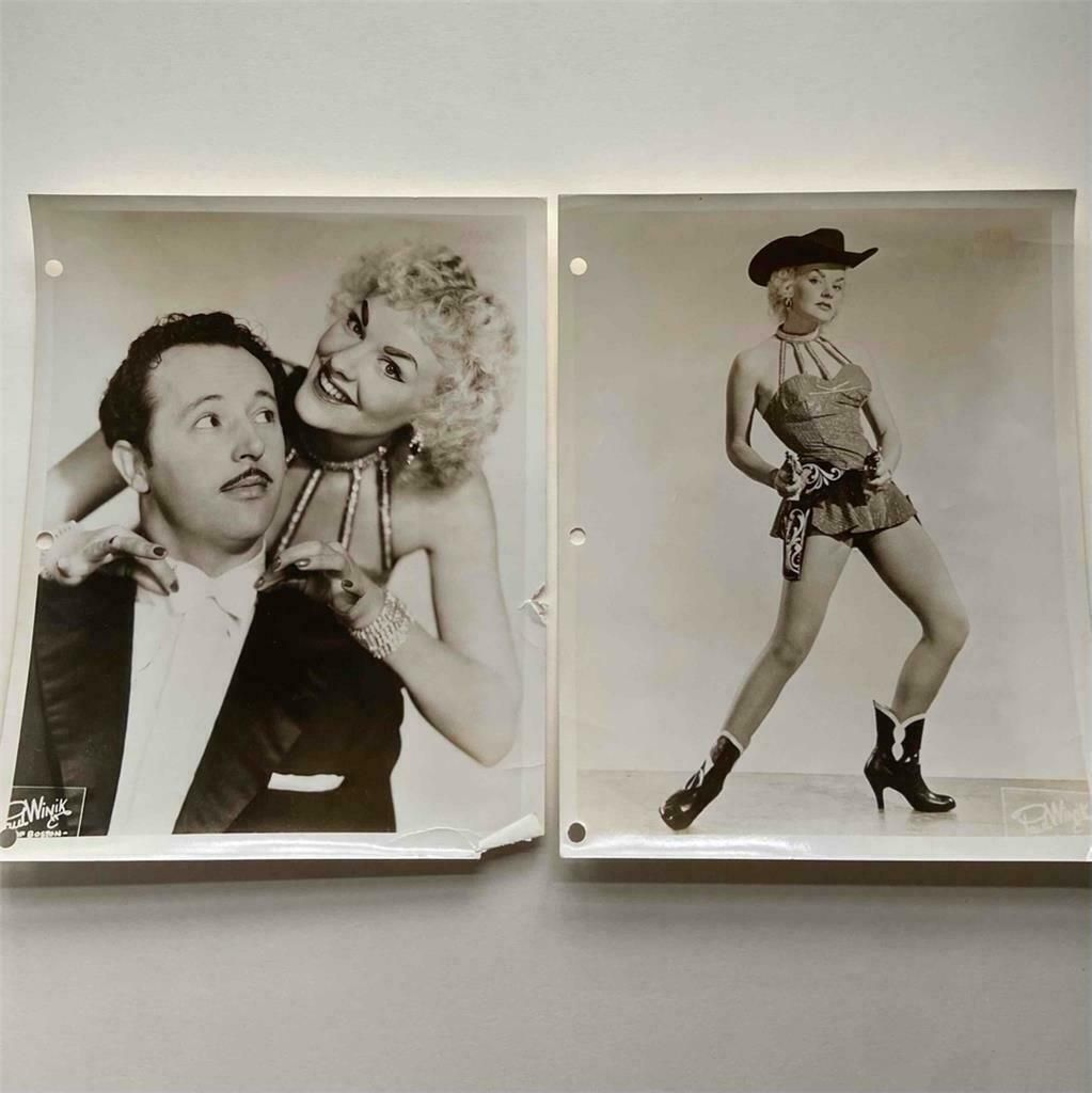 LOT of 2 Vintage PUBLICITY PHOTOs DANCER in COWGIRL
