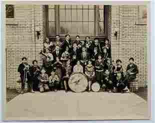 VINTAGE GROUP PHOTO HARTFORD CONNECTICUT SCHOOL BAND