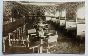 1953 VINTAGE DINING ROOM INTERIOR of WARDs RESTAURANT