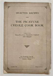 1922 RECIPE s from THE PICAYUNE CREOLE COOK BOOK