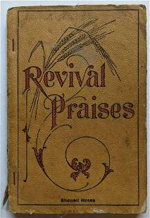 ANTIQUE 1907 SHAPE NOTE MUSIC SONG BOOK HYMNAL REVIVAL