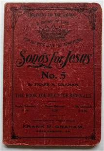 1914 SHAPE NOTE MUSIC SONG BOOK HYMNAL SONGS FOR JESUS