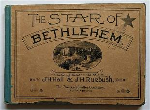 ANTIQUE 1889 SHAPE NOTE MUSIC SONG BOOK HYMNS THE STAR
