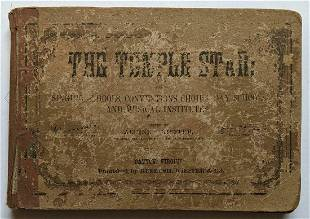 ANTIQUE 1886 SHAPE NOTE MUSIC SONG BOOK HYMNS THE