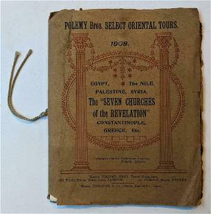 1908 POLEMY BROS SELECT ORIENTAL TOURS Egypt PALESTINE
