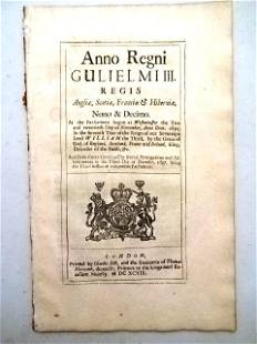 1698 English Act Trade with Africa Colonies