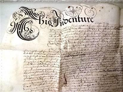 1669 English Vellum Indenture London Cheapside