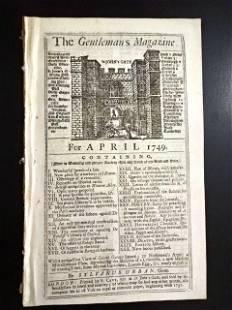 1749 Gentleman's Magazine New Inventions Science