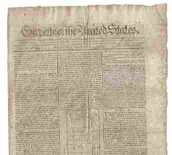 1790 Gazette of the United States Congress France