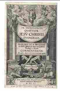 1606 Engraved Illustrated Title Leaf Jesus Christ