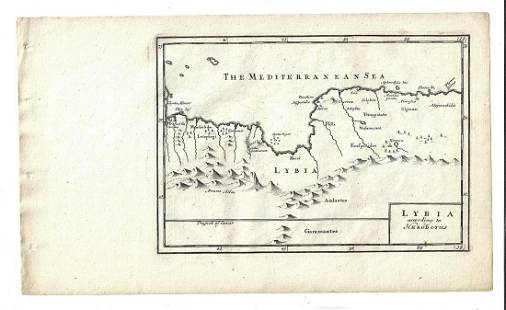 1747 Map of Ancient Lybia