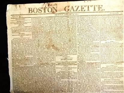 1805 Boston Gazette Politics Nice Ads
