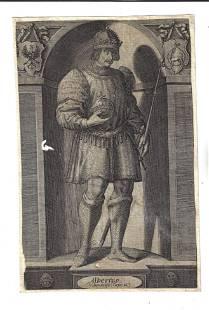 Early 17th C Engraving of Albertus