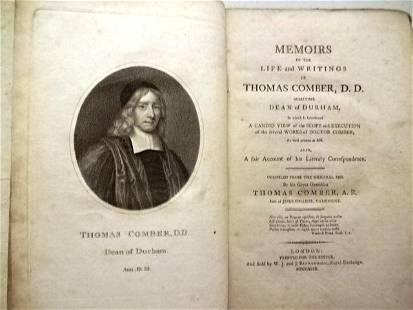 1799 Memoirs of Life Thomas Comber