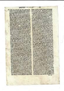 1490 Latin Incunabula Leaf