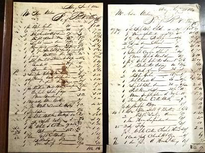 1832 Two Ledgers of Goods Albany Merchant