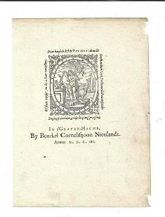 1603 Illustrated Printers Mark