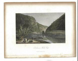 1872 Tinted Lithograph Delaware Water Gap