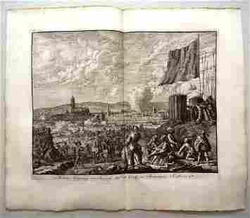 1730 Engraving of Battle Spanish Netherlands