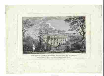 Two 19th C English Engravings Estates