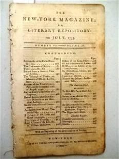 1793 New York Magazine Columbia