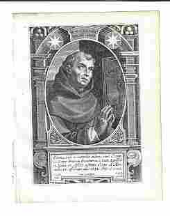 1634 Saint Tolentinas Engraving Galle