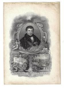 19th C Engraving Daniel O'Connell Irish Statesman