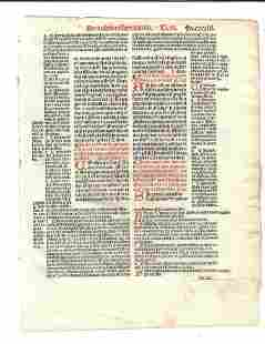 1516 Leaf Decretales Pope Gregory IX