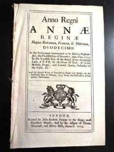 1714 English Tax Act South Sea Gun Money