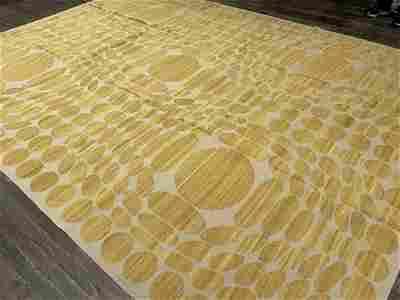 MODERN ART FLATWEAVE Circa MODERN Hand-Woven with