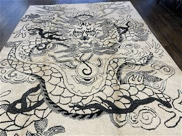 MONGOLIAN Circa MODERN Hand knotted with highest