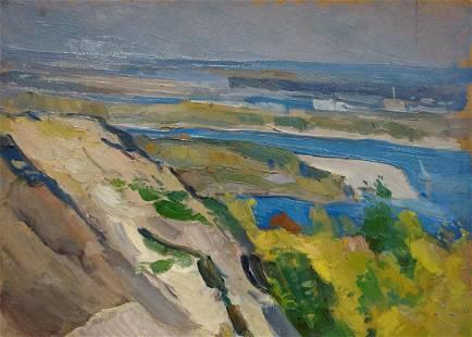 Oil painting River landscape Buryachok Ivan Martynovich