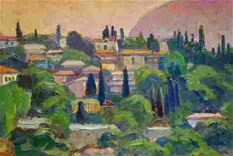 Oil painting Urban landscape