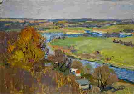 Oil painting Autumn has come Gantman Moses Faybovich
