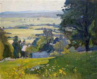 Oil painting Summer sunny day Gantman Moses Faybovich