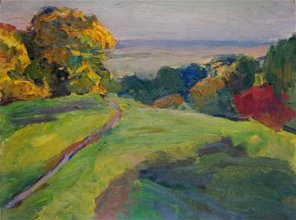 Oil painting Landscape Gantman Moses Faybovich