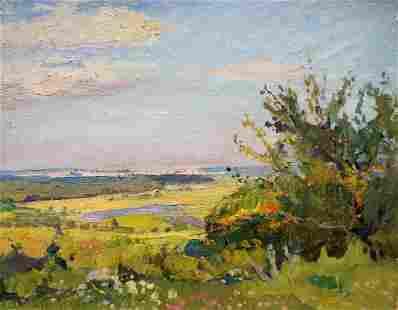 Oil painting Natural landscape Gantman Moses Faybovich