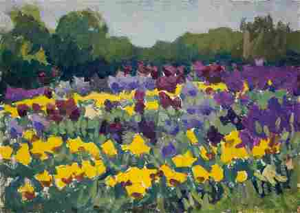 Oil painting Flower field Pokulity Konstantin Ivanovich