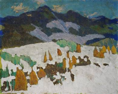 Oil painting Among the mountains Pokulity Konstantin