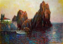 Oil painting Rocks Bakaev Sergey Ivanovich