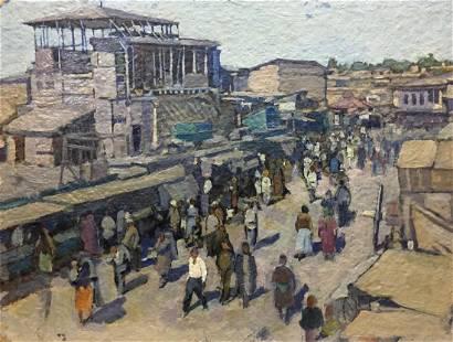 Oil painting Market Yudin Igor Dmitrievich