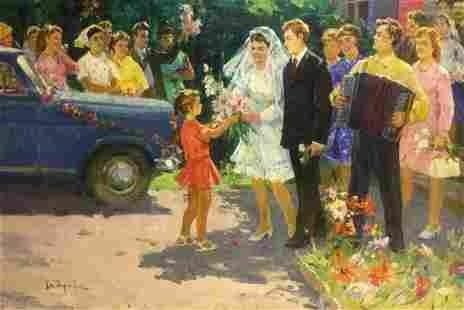 Oil painting Wedding Khitrova Tamara Aleksandrovna