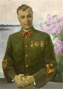 Oil painting Portrait of Kirponos M. Shirokov Anatoly