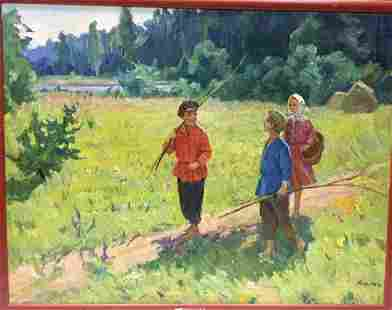 Oil painting To the forest Kogan-Shats Matviy