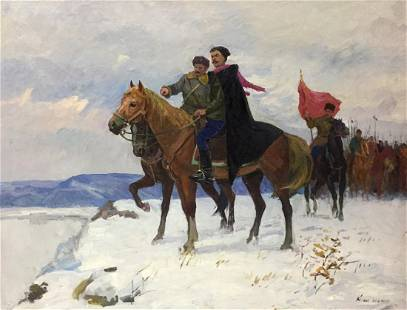 Oil painting Getmans Kogan-Shats Matviy Borysovych