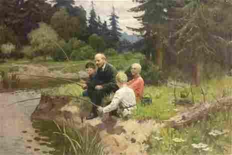 Oil painting Lenin with children Shmatko Leonid