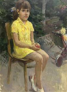 Oil painting Portrait of a girl Sheludko Leonid