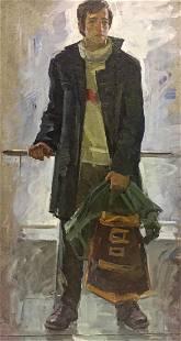 Oil painting Student portrait Kishchenko Alexander