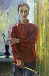 Oil painting Portrait of the artist Zhabinsky Leonid